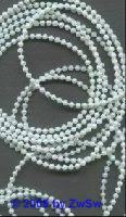 Perlenschnur weiß/AB, 2,5 Meter