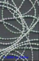 Perlenschnur kristall/AB, 2,5 Meter, Ø 2,5mm