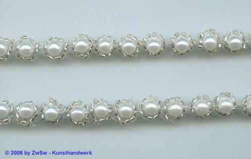 Perlen-Borte, 50 Zentimeter, 9mm breit