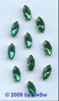 Schmuckstein, 15mm x 7mm, smaragd