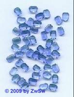 Octagon, 8mm x 6mm, blau 1 Stück
