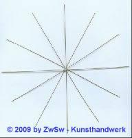 Drahtstern, Ø 20cm, 1 Stück