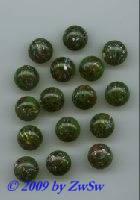 Picassostein, grün, Ø 15mm, 1 Stück