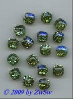 smaragd mit silber, 10mm x 10mm, 1 Stück