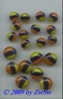 Dreifarbiger Muggel, Ø 9,5 mm, 1 Stück