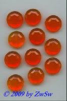 Strassstein, orange, Ø 18mm, unverspiegelt, 1 Stück