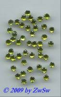 Strassstein gefasst, Ø 4,5 mm, hellgrün, 1 Stück