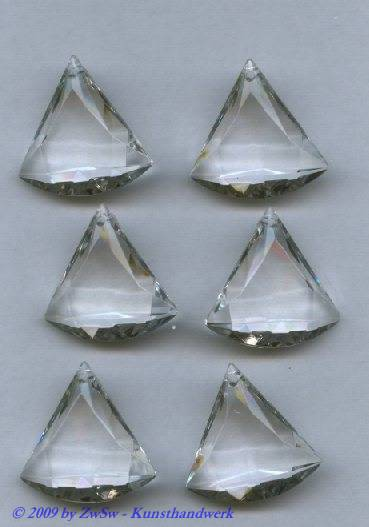 Acrylstein, 30mm x 30mm kristall, 1 Stück