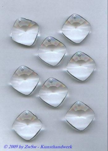 Acrylstein 22mm x 22mm kristall, 1 Stück