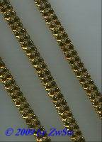 Strasskette, d-topas 10 mm breit, 50cm