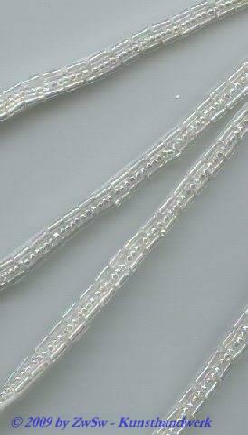 Roccailleperlen-Borte irisierend 6mm breit, 50cm