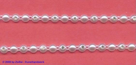 Perlen-Borte, 50 Zentimeter, 6mm breit