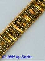 Pailletten-Borte 40mm breit, 50cm, gold