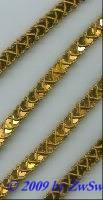 Pailletten-Borte 10mm breit, 1 Meter