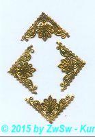Eckelemente gold, 1 Bogen