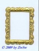 Rahmen gold, 5,4cm x 7,1cm