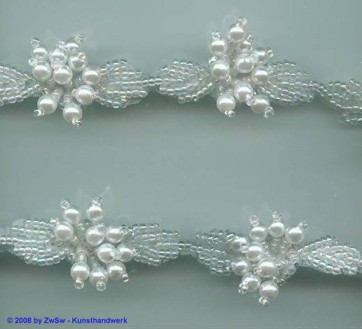 Perlen-Borte, 50 Zentimeter, 13mm breit