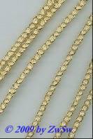 Goldbändchen mit weiss 3 mm, 1 Meter