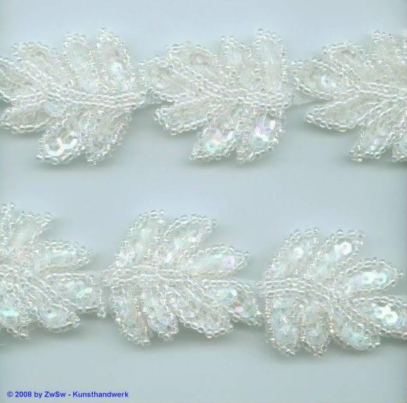 Perlen-Borte, 50 Zentimeter, 34mm breit
