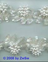 Perlen-Borte, 50 Zentimeter, 42mm breit