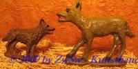 kleiner Wolf; ca. 2cm x 2,5cm
