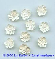 Paillettenblumen creme/AB, 1 Stück
