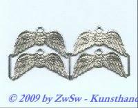 4 Flügel mit Öse, silber