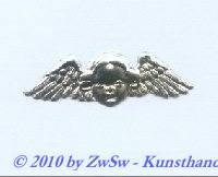 1 Engel in silber, 3,8cm x 1,3cm