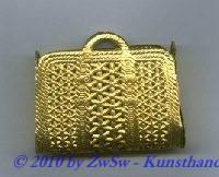 Korbflechttasche, 1 Stück, gold