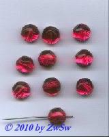 Aufnähstein pink, Ø 12mm, 1 Stück