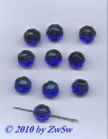 Aufnähstein blau, Ø 12mm, 1 Stück