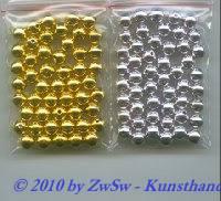 Perle, gold, Ø 6mm, 50 Stück