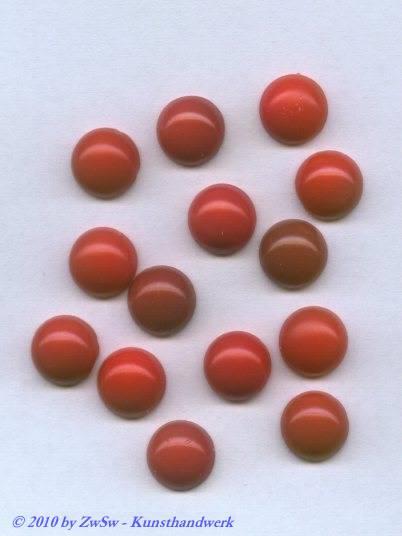 Muggelstein, helle Koralle, Ø 12mm, 1 Stück