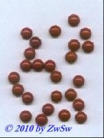 Muggelstein, dunkle Koralle, Ø 7mm, 1 Stück