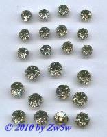 Strassstein gefasst, Ø 6,5mm/SS30, kristall