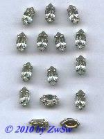 Schmuckstein gefasst kristall 1 Stück 10mm x 5mm