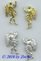 Engelpaar mit Harfe in gold