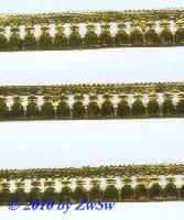 Quastenborte einseitig, gelbgold, 1 Bogen