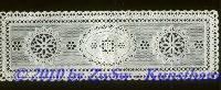 Spitzendeckchen antik, weiß, 1 Stück