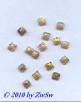 Muggelstein opal mit Goldeinschlüssen, 6mm x 6mm, 1 Stück