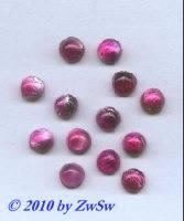 Muggelstein dunkelrosa mit silbereinschlüssen, Ø 8mm, 1 Stüc