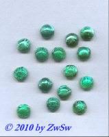 Muggelstein grün mit silbereinschlüssen, Ø 8mm, 1 Stück