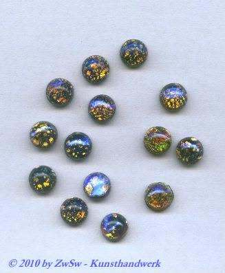 """Muggelstein, """"schwarzer opal"""", Ø 7mm, 1 Stück"""