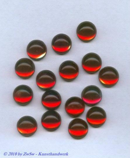 """Muggelstein, """"rot mit kristall"""", Ø 12mm, 1 Stück"""