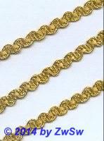 Häkelgimpe 6mm, gold, 1 Meter