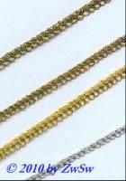 Ohrenlitze 5mm, altgold, 1 Meter