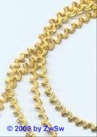 Bouillonrundtresse vergoldet