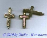 Reliquienkreuz zum aufschwenken, Hl. Juliana