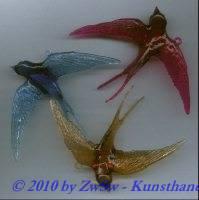 Schwalbe gross Acrylglas blau