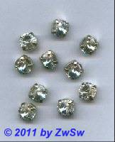 Swarovski-Rivolistein,kristall, gefaßt Ø 11mm, 1 Stück